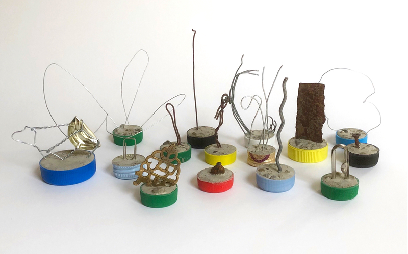 bottle cap sculpture - france - group B REDUCED